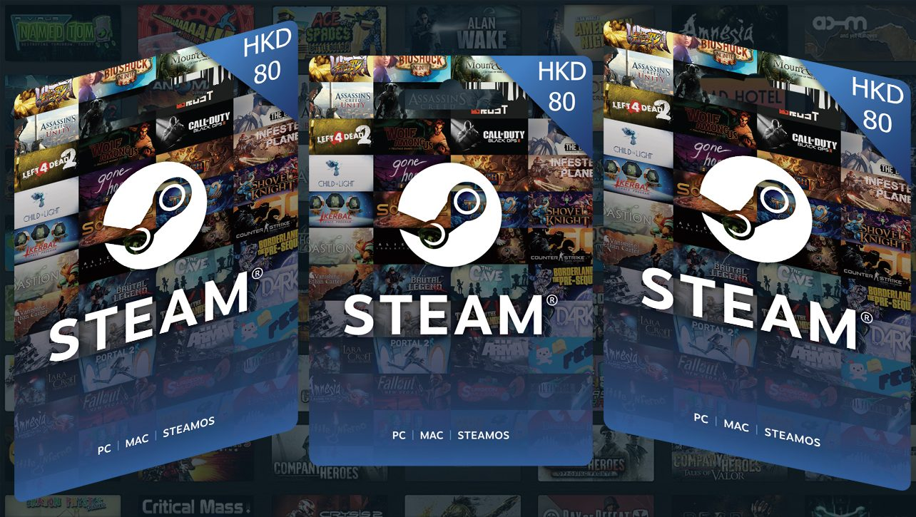 Steam wallet HKD 80